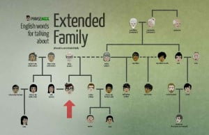 33 English words and phrases for talking about your extended family