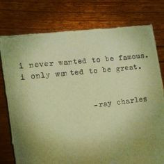 Very big difference! Ray Charles #quote #blues More