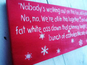 Christmas Decorations, CHRISTMAS VACATION funny sign PACKAGE- Clark ...