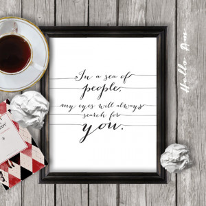 quote print, printable love quote, wall decor, framed love quote, wall ...