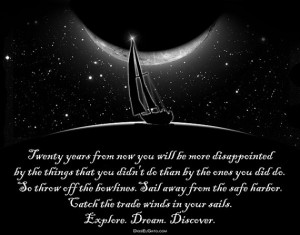Mark Twain Quote Catch the Trade Winds in your Sails. Explore. Dream ...