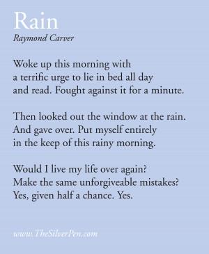 Rainy Day by Raymond Carver
