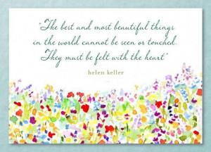 Helen keller quotes on love