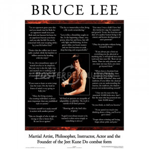 Bruce Lee (In Their Words, Quotes) Movie Poster