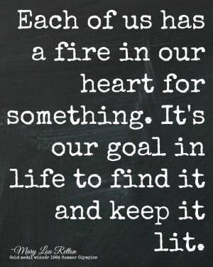 Fire in Our Heart Olympic Quote Printable by The Happy Housie