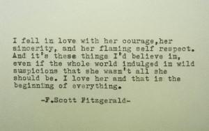 SCOTT FITZGERALD LOve Quote Love Poem F Scott Fitzgerald Quote Hand ...