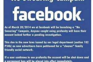 "on Facebook claims CEO Mark Zuckerberg is seeking a ""no swearing ..."