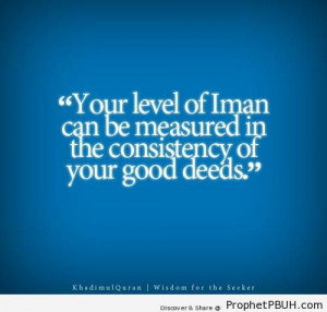 Consistency Islamic Quotes...