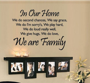 Removable Vinyl Family Quote Wall Decal Quotes Wall Art Family Wall ...