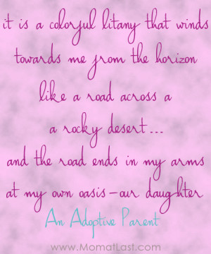 Adoption Quotes Poems Adoption Quote Colorful Litany