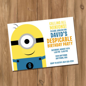 Minions Despicable Me Birthday Party