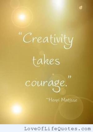 Henri Matisse quote on creativity