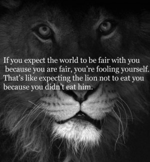 No expectations - no disappointments.