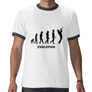funny evolution trumpet player shirts tshirts and gifts for trumpet ...
