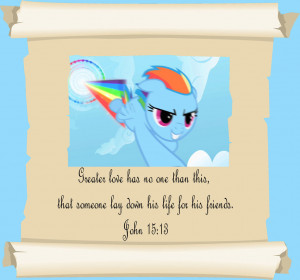 MLP Christian quotes Rainbow Dash by GennadyKalugina