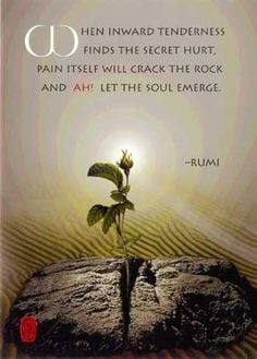 ... rocks wisdom soul rumi inner peace healing quotes pictures quotes the