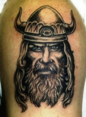 Viking Warrior Tattoo Upper Arm