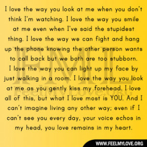 love the way you look at me when you don t think i m watching i love ...