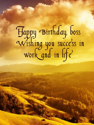 Birthday card for boss for free