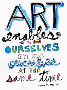 Art And Creativity Quotes --thomas merton #quotes #art