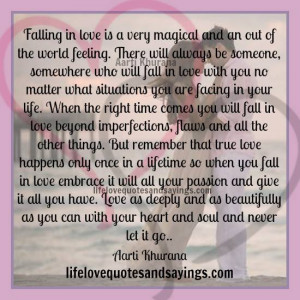 Falling For Someone Quotes And Sayings Falling in love is magical.