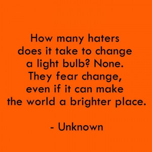 don't be a hater!