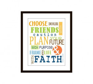 Kids Wall Decor Typography Choose Your Friend by DoodleGraphics, $20 ...