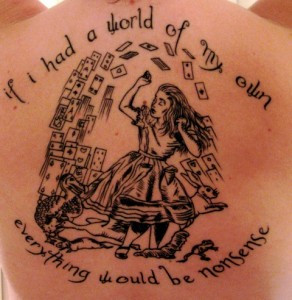 ... is also a whole website dedicated to literary tattoos, Contrariwise