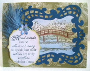Mother Teresa quote, swans, bridge over the river, landscape serenity ...