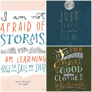 Have you seen these beautiful literary quote prints? A collaboration ...