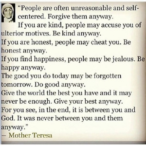 wise woman once said...