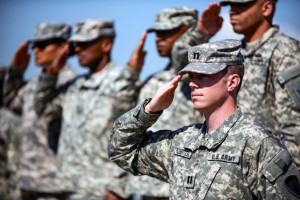 Army Proper Salute U.s. army soldiers attending