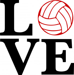 Love Volleyball Vinyl Decal – Two Color