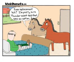 Knee Surgery Cartoons http://www.webdonuts.com/2012/03/thunder/