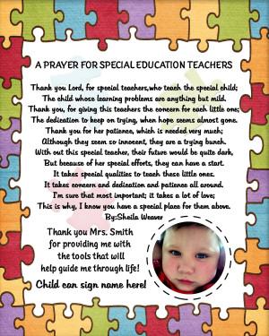 Special Needs Teacher Quotes Special Needs Teacher