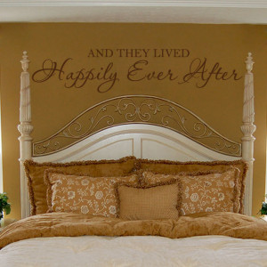 Romantic Wall Decal Bedroom Quote Vinyl Lettering Decor - And They ...