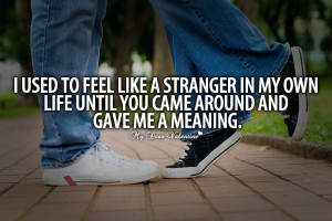 Quotes For Him I Used To Feel Like A Stranger In My Own Life Wallpaper ...