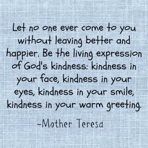 Mother Teresa kindness