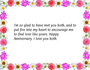 ... me to find love like yours. Happy Anniversary. I love you both