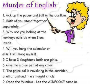 Murder Of English Funny whatsapp image of funny Jokes
