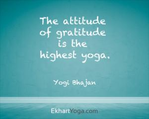 Attitude of gratitude is highest yoga