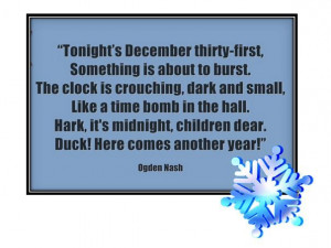 Tonight's December thirty-first, Something is about to burst. The ...