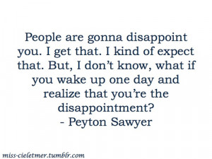 Peyton Sawyer Quotes About Love