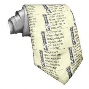 Gandhi Mohandas Mahatma Quote Happiness Quotes Tie