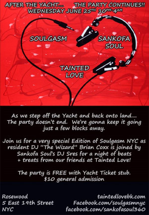 Tainted Love Yacht Party at New York Skyports