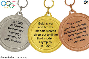 ... paintings instead of gold medals gold silver and bronze medals weren