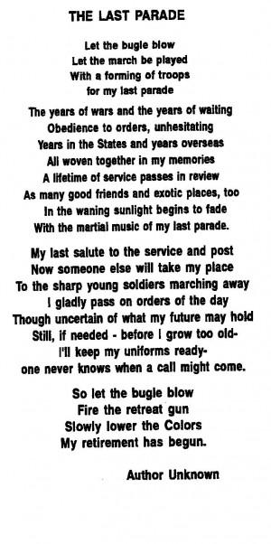 Poem received at Retirement Ceremony