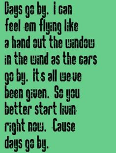 urban days go by song lyrics music lyrics song quotes music quotes ...