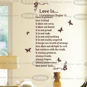 free-shipping-70-100cm-Modren-Romantic-Word-Quote-Wall-Decal-Sticker ...