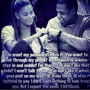 Beyoncé jay z relationship advice